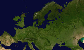 Featured europe satellite globe
