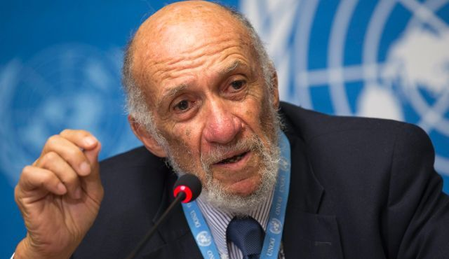 Israel critic Richard Falk, one of the authors of the report