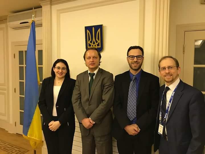 WithDeputy Permanent Representative of Ukraine to the UN, Mr. Yurii Vitrenko
