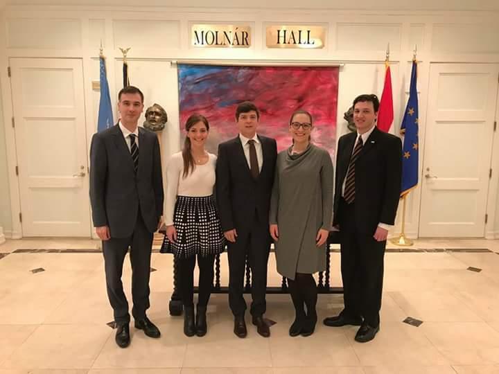 With Dora Kaszas, Special Advisor to the Hungarian Ambassador on Public Diplomacy