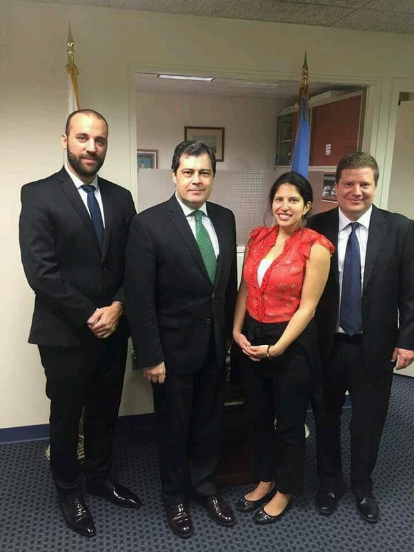With Deputy Permanent Representative of Uruguay to the UN, Mr. Luis Bermudez