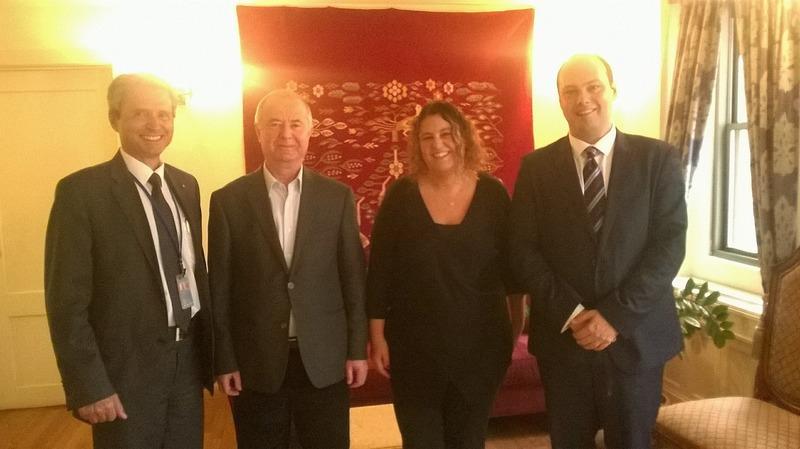 With Romanian Education Minister, Pavel Nastase and Ambassador to the UN, Ion Jinga