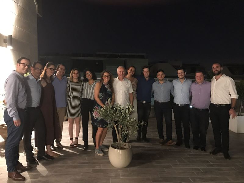 Gad Ariely, Chair of WJC-Israel, meeting with members of the WJC JDCorps Steering Committee near Tel Aviv in July 2017.