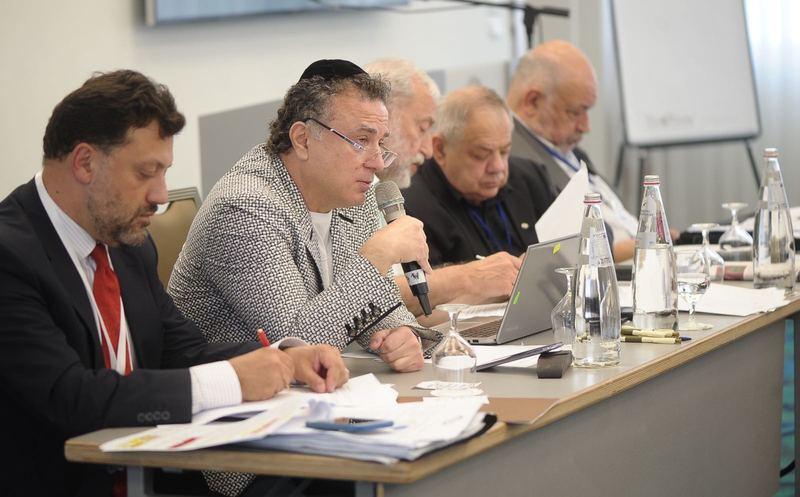 MikhaelMirilashvili addressing the EAJC General Council meeting. 24 July 2017. (Credit: Dani Bachar)
