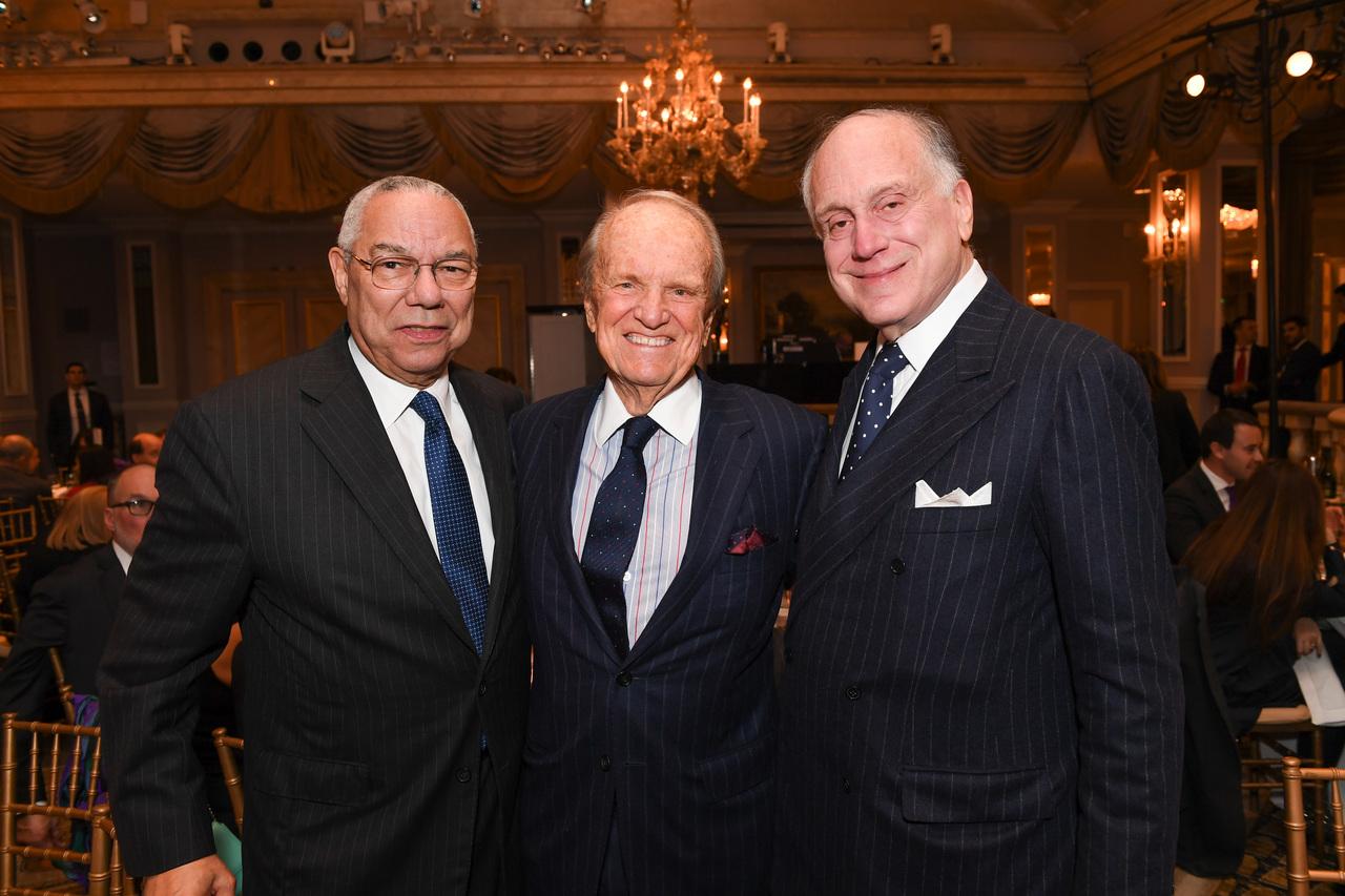 Former Secretary of State Colin Powell, George Stevens, Jr., WJC President Ronald S. Lauder (c) Shahar Azran
