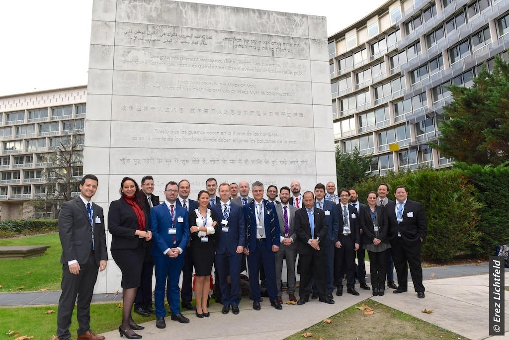 Members of the WJC Jewish Diplomatic Corps at UNESCO in Paris