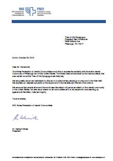 Swiss Federation of Jewish Communities