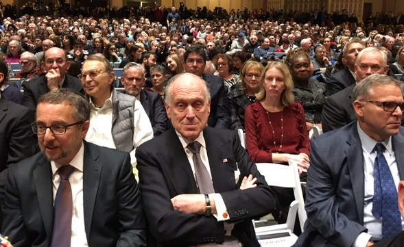 WJC President Ronald S. Lauder at the official vigil.