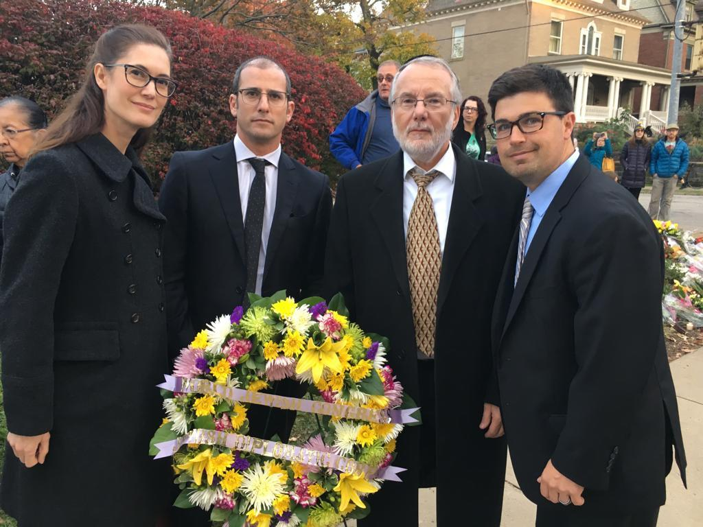 The World Jewish Congress lays wreath in memory of the victims.