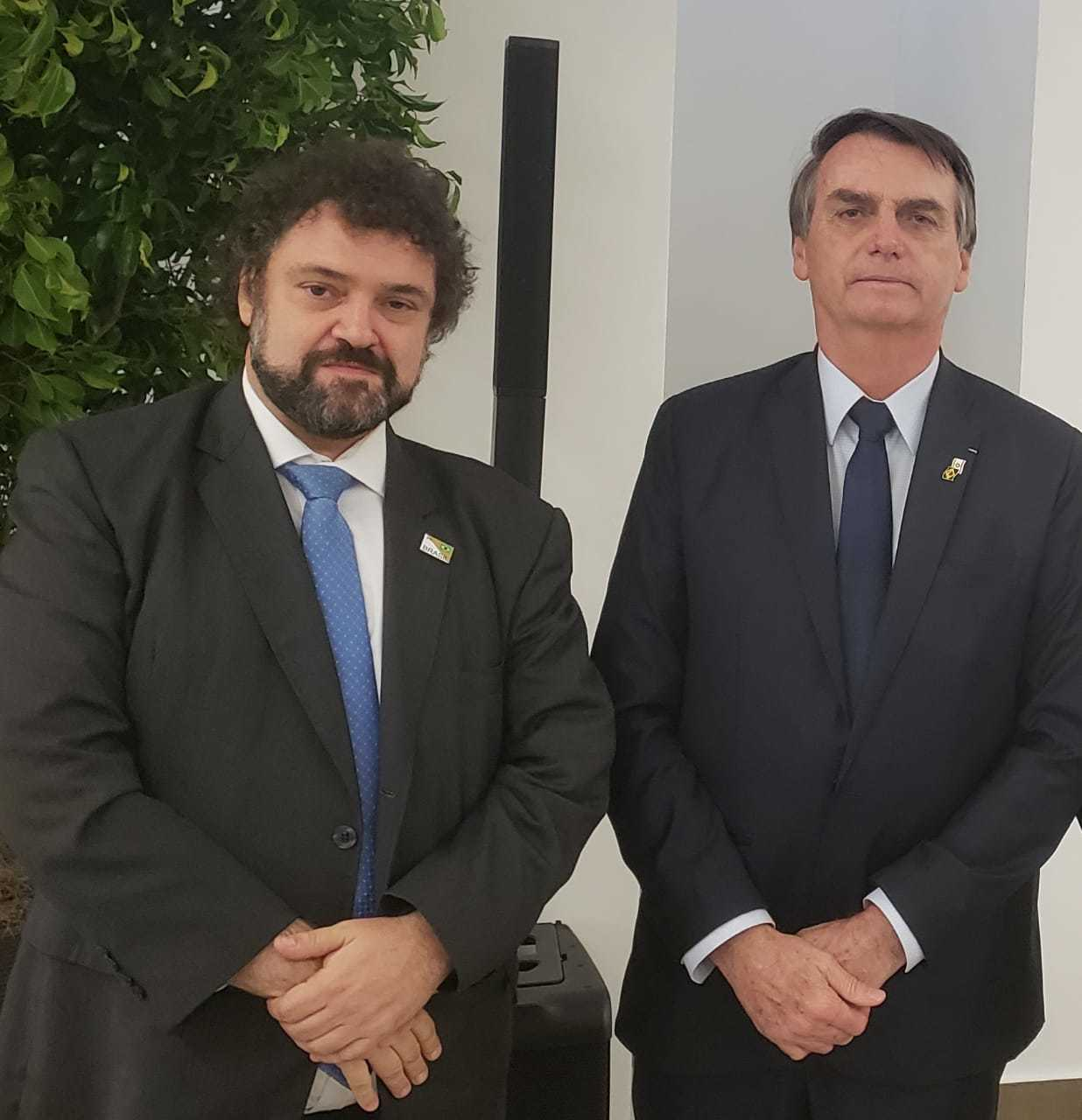 LAJC Executive Vice President Claudio Epelman and Brazilian President Jair Bolsanaro.