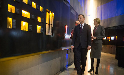 President Duda visiting the museum