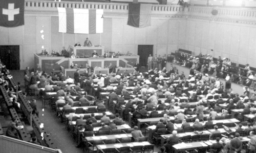 First WJC Plenary Assembly in Geneva in August 1936