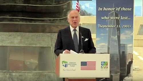 Ronald S. Lauder at the Living Memorial in Jerusalem